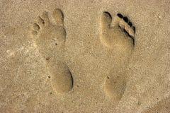 Spuren auf Sand Lizenzfreie Stockbilder