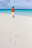 Spuren auf Sand Stockfotografie