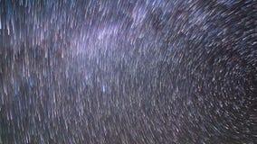 Spuren der Sterne Panorama Geschossen auf Kennzeichen II Canons 5D mit Hauptl Linsen 4K stock footage