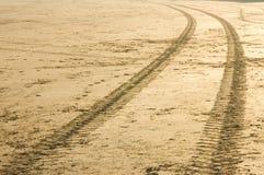 Spuren im Sand Lizenzfreie Stockfotos