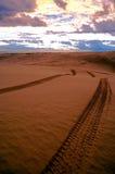 Spuren im Sand Stockbilder