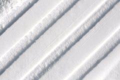Spuren im Schnee stockfoto