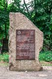 Spuren jüdischen Polen- - Katyn-Denkmals Lizenzfreies Stockfoto