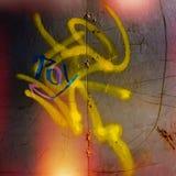Spuren von Bürstenanschlägen der Farbe Stockfotos