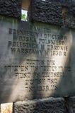 Spuren von jüdischem Warschau - Soldaten Erinnerungs Stockfotos