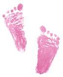 Spuren von neugeborenem Stockbild