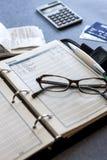 Spurhaltung von Ausgaben. Lizenzfreies Stockfoto