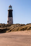 Spurn Head Point Lighthouse. East Yorkshire North Sea Coast Royalty Free Stock Image