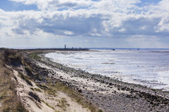 Spurn Point Coastline with LIghthouse Stock Images