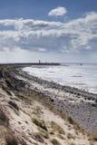 Spurn Point Coastline with LIghthouse Stock Photos