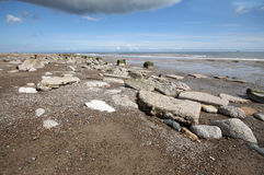 Spurn Point Humber Estuary. Spun Point is on the North of the Humber Estuary on the Yorkshire Coast Stock Image