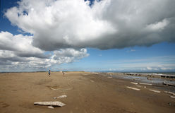 Spurn Point Humber Estuary. Spun Point is on the North of the Humber Estuary on the Yorkshire Coast Stock Photography