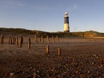 Spurn Point lighthouse Stock Images