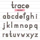 Spurnalphabet-Kleinbuchstaben Stockfoto