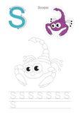 Spurnspiel für Buchstaben S Stockfotos