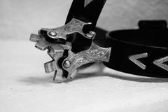 Spurs. A picture of some Spurs in black and white royalty free stock photography