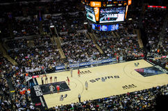 Free Spurs Rockets NBA Game Royalty Free Stock Photo - 35659945