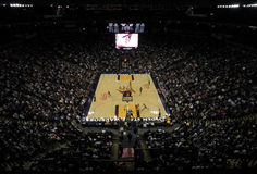 Spurs vs. Warriors arena view Stock Photos