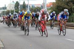 Spurt in Böhmen-Radtour 2013 Stockbild