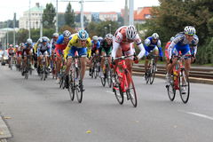 Spurt in Bohemia cycling tour 2013 Stock Image