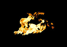 Spurts of flame Royalty Free Stock Images