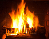 Spurts of flame Stock Photo