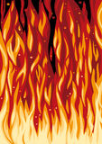 Spurts of flame Stock Photography