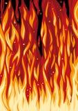 Spurts van vlam Stock Fotografie