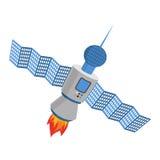 Sputnik aisló Fondo blanco por satélite Imagenes de archivo