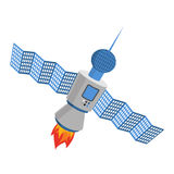 Sputnik isolated. satellite white background. galaxy Space transmitter Stock Images