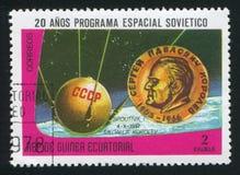 Sputnik och Korolev medalj Royaltyfri Fotografi