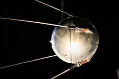 Sputnik One. First Artificial Earth Satellite-National Museum of The Air Force-Dayton, Ohio-Taken September 2017-Cold War History Royalty Free Stock Photos