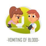 Spy av blodläkarundersökningbegreppet också vektor för coreldrawillustration Royaltyfri Fotografi