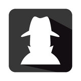 Spy avatar isolated icon Royalty Free Stock Photography