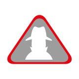 Spy avatar isolated icon Stock Photos