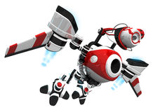 Spy Bot or Webcrawler Flying to Next Inspection Stock Images