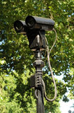 CCTV Spy camara. You are being watched. Stock Photo