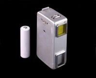 Spy Camera. A vintage miniature spy camera isolated on black Royalty Free Stock Photos
