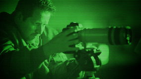 Spy Caught with Night Vision stock video