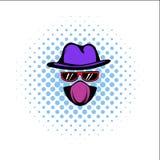 Spy comics icon Royalty Free Stock Photo