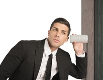 Spy. Concept of businessman spy secrets on business Stock Photo