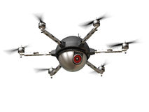 Spy drone. 3d image of futuristic delivery drone Royalty Free Stock Images