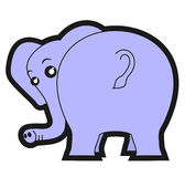 Spy elephant Royalty Free Stock Images