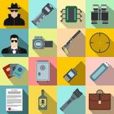 Spy flat icons Royalty Free Stock Image