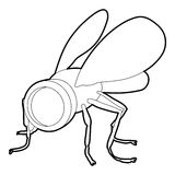 Spy fly icon, outline style Royalty Free Stock Photography