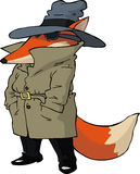 Spy fox. On white background vector vector illustration