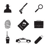 Spy icons Royalty Free Stock Images