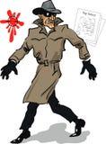 Spy. Insidious spy sneaks to steal top secrets Stock Photos