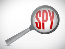 Spy magnify illustration design Stock Images