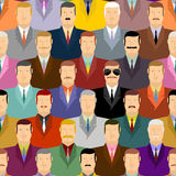 Spy and people. Secret agent in glasses among crowds of people. Stock Images